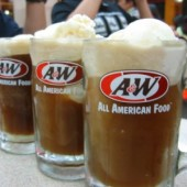 a and w root beer float