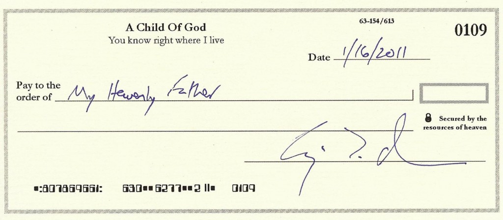 blank check from heaven 2