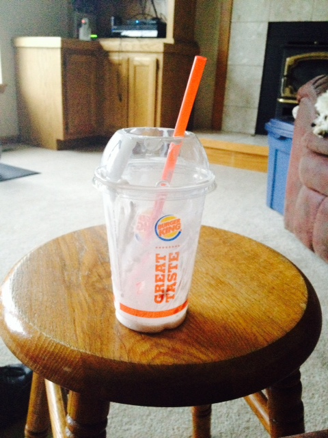 BK strawberry shake