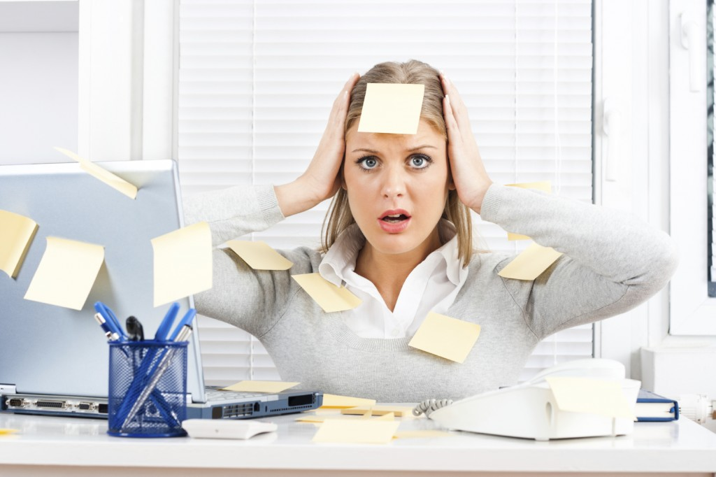 Frustrated office woman
