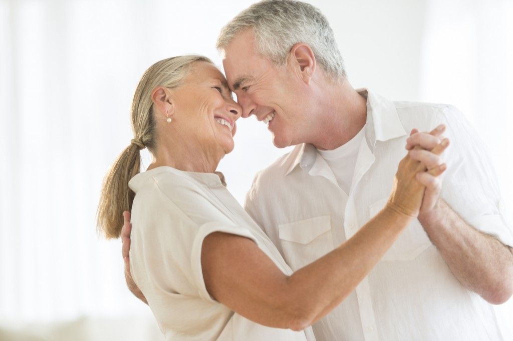 Romantic Couple Dancing At Home