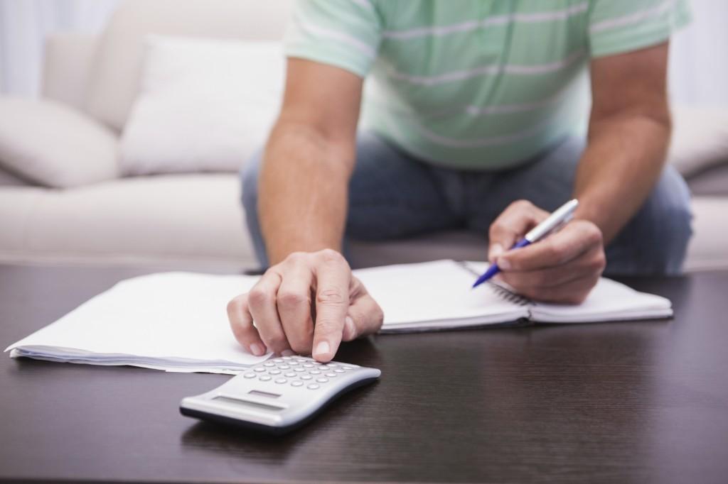 Man budgeting