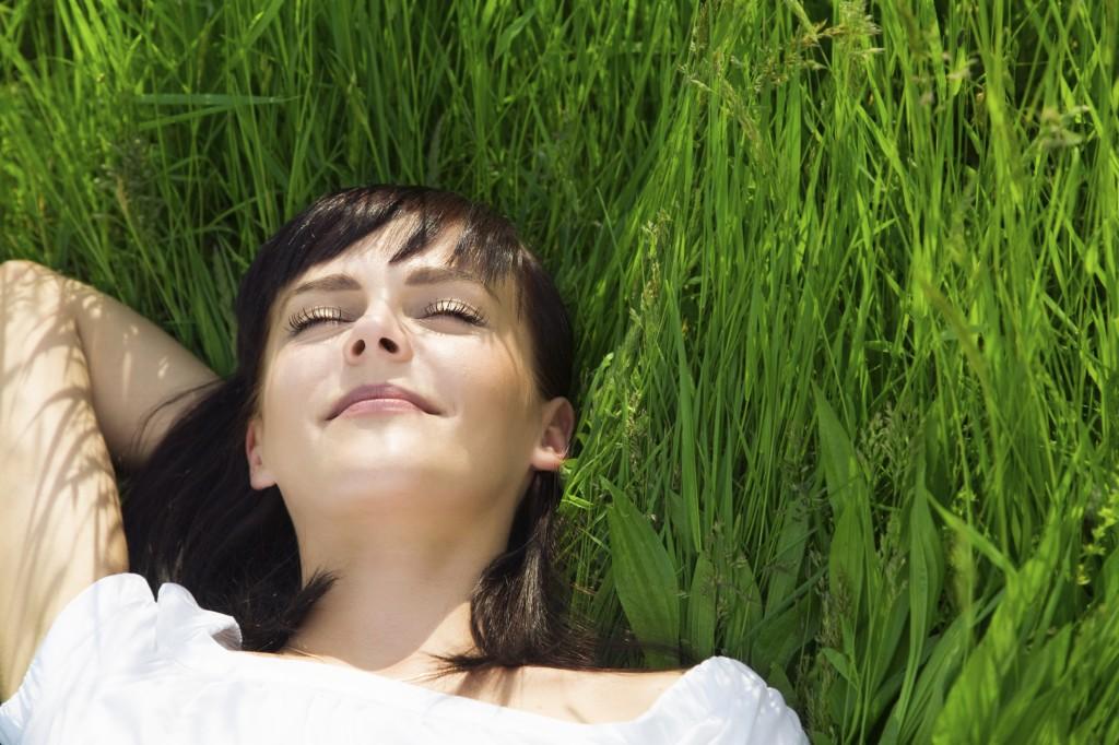 resting in meadow