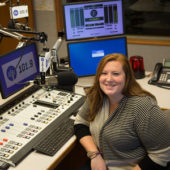 Sarah in production booth