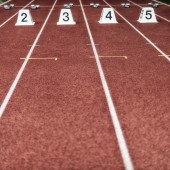 starting block at track and field