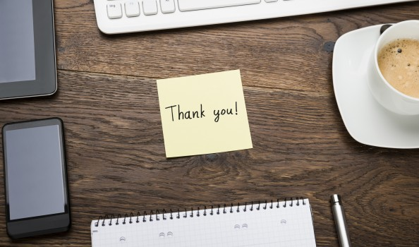 Thank You On Post Note