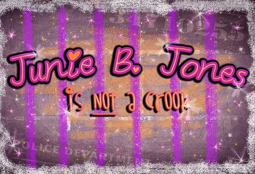 Purple stripes and stars with Junie B Jones on it