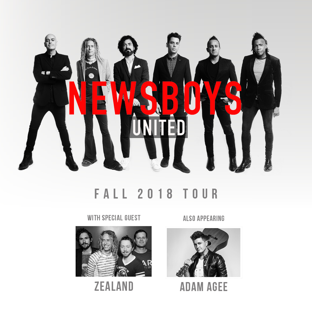 the Newsboys group photo along with Zealand worship and Adam Agee