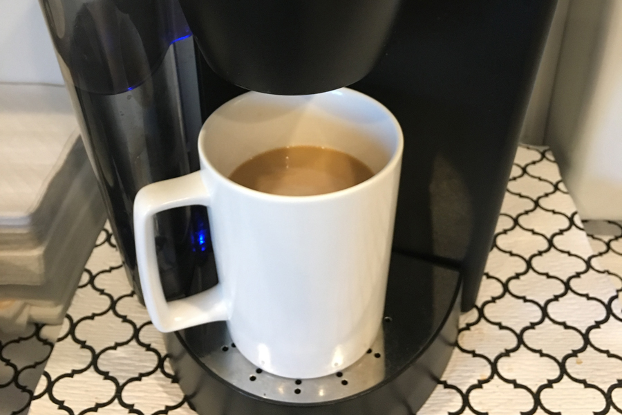 Picture of coffee cup in a coffee maker