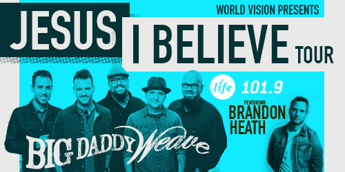 Blue Big Daddy Weave concert poster