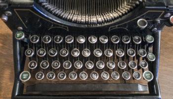 Antique typewriter in an historic hotel. Tonopah, Nevada.